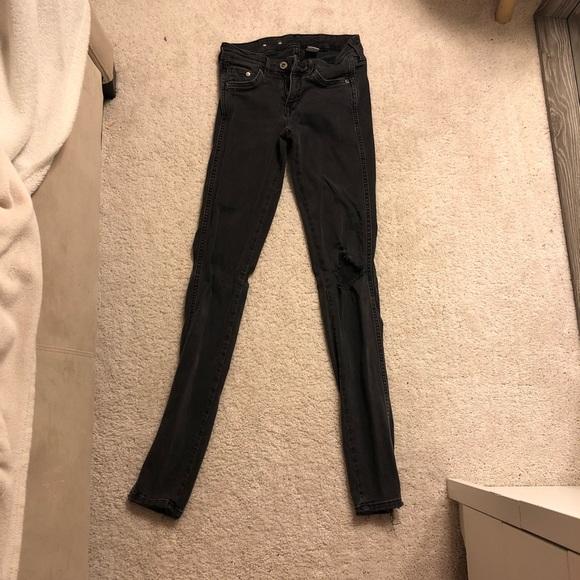 49dc464608b4d H&M Jeans   Hm Black Ripped Super Skinny   Poshmark